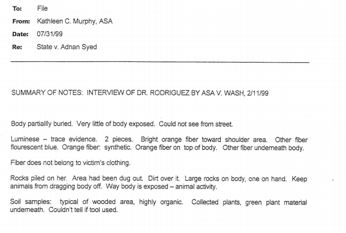 From State Attorney files: no other place have I seen the detail that the body had rocks all over it to prevent it from being moved.