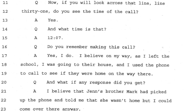 At the second trial Jay clearly testifies that the 12:07 call happened AFTER Adnan returned to school.