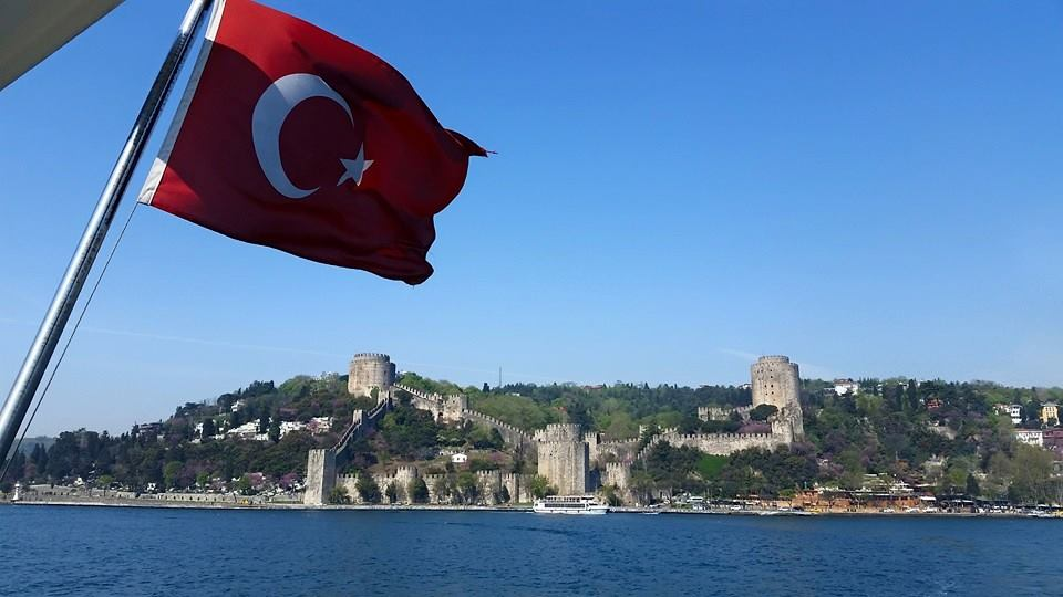 A pic from our boat ride on the Bosphorus. The Ottomans really knew how to build stuff.  That's a fort called the Rumeli Hissar Castle that was erected in a record four months in 1451.