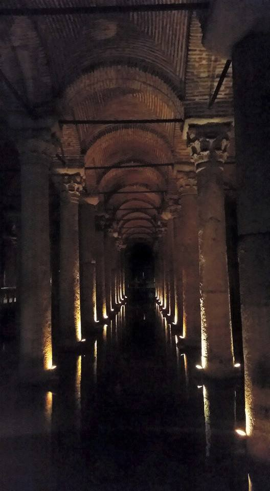 Under the old city of Istanbul is this incredible site, a cistern from the 6th century. You walk among the columns on walkways, and underneath is water with fish as large as small dogs swimming around.