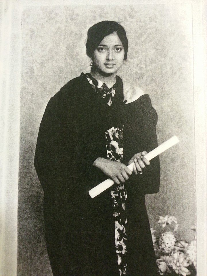 Ami, graduating from college. If she got an education, dammit we better.