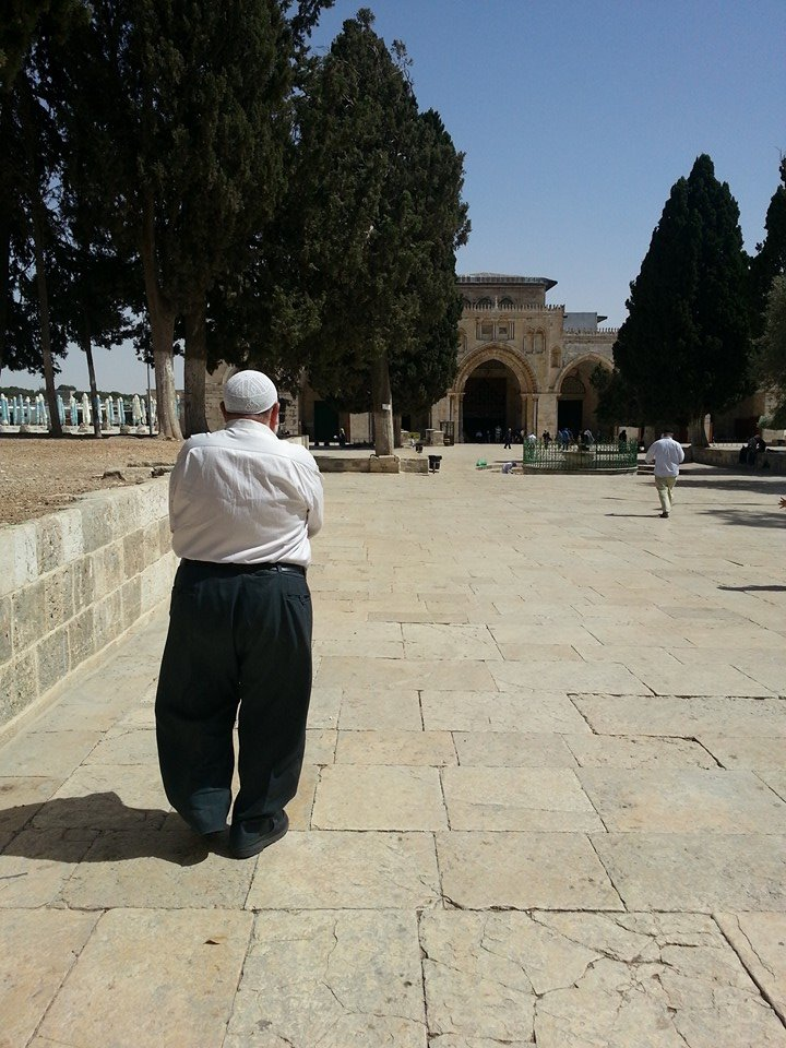 The path to Al Aqsa Mosque, in the heart of the Holy Land