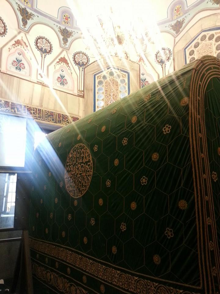 The tomb of the Prophet Abraham, in the divided Tomb of the Patriarchs/Ibrahimi mosque