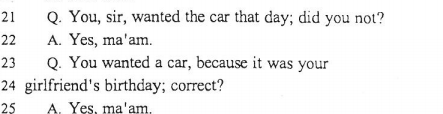 Jay wanted the car for Steph's birthday. He solicited it. Adnan didn't ask him to TAKE the car.