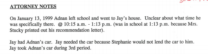 Directly from attorney notes.