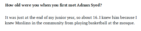 From Jay's interview