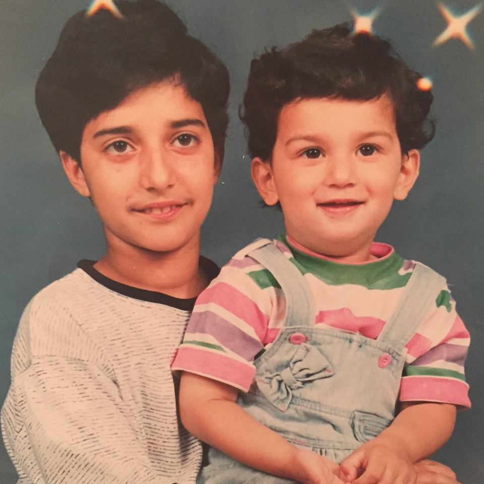 Adnan and his little brother Yusuf. Clearly, Aunty hoped for a girl :)