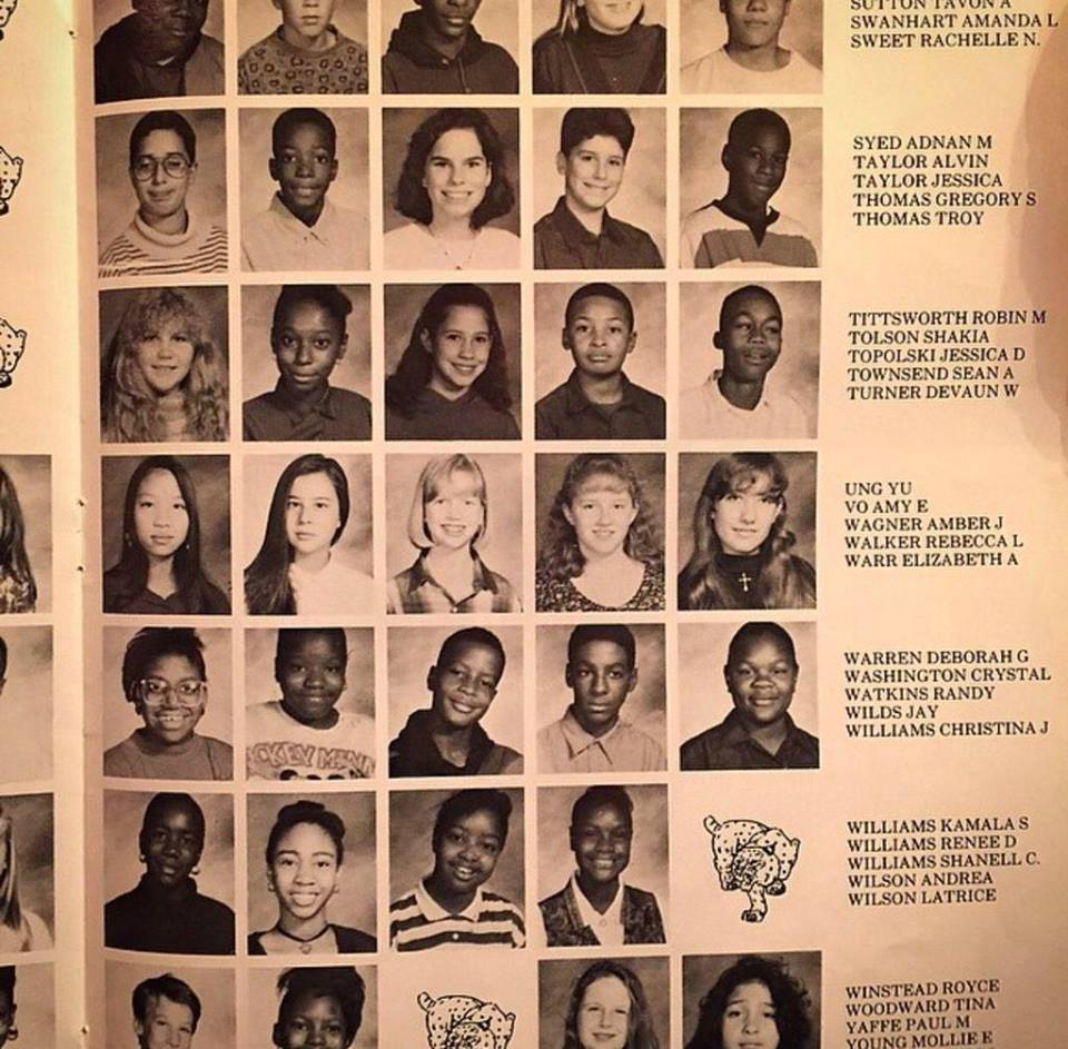 Adnan and Jay both appear on the same yearbook page. My heart breaks for that bespectacled little boy who doesn't know this lying sack of lies will destroy his life in a few years.