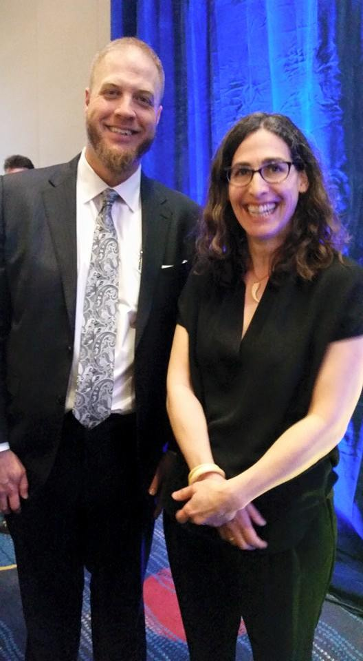Here is where it got super weird for me. One of the best know Imams in the America, Imam Suhaib Webb, asked me take his pic with Sarah.  Twilight zone level colliding of worlds.