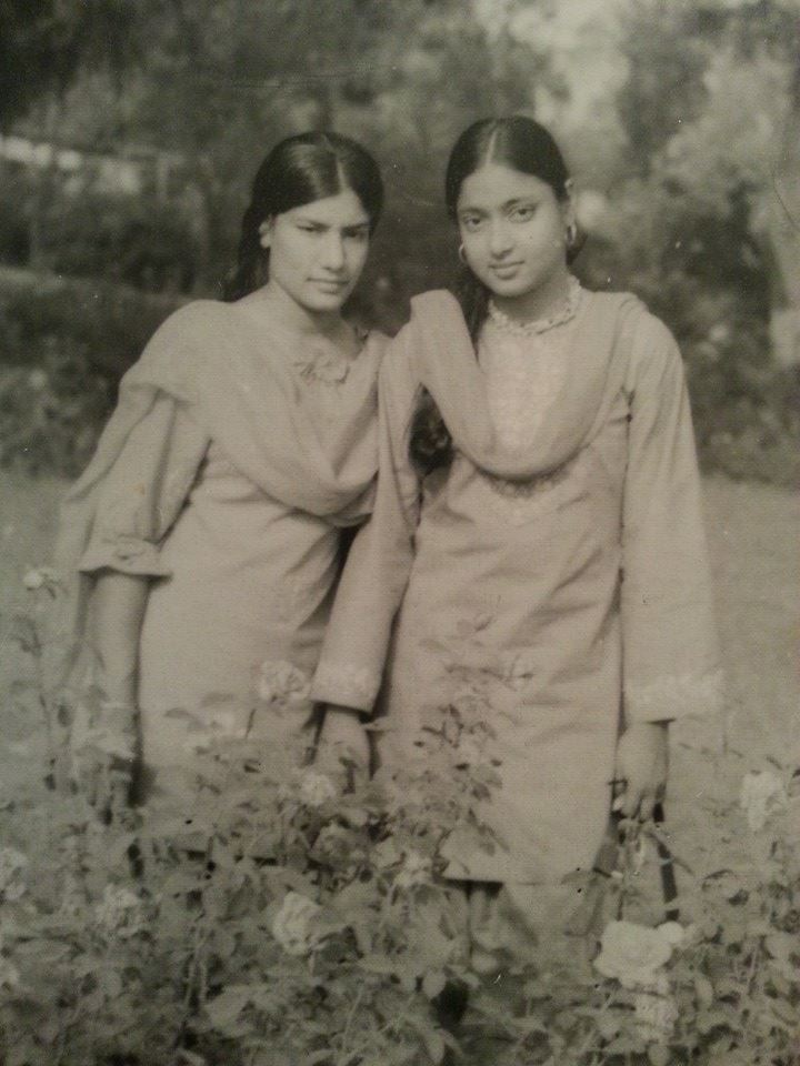 My mother with her own maternal aunt, who was a year older than her. Ami spent most of her childhood with her maternal relatives.