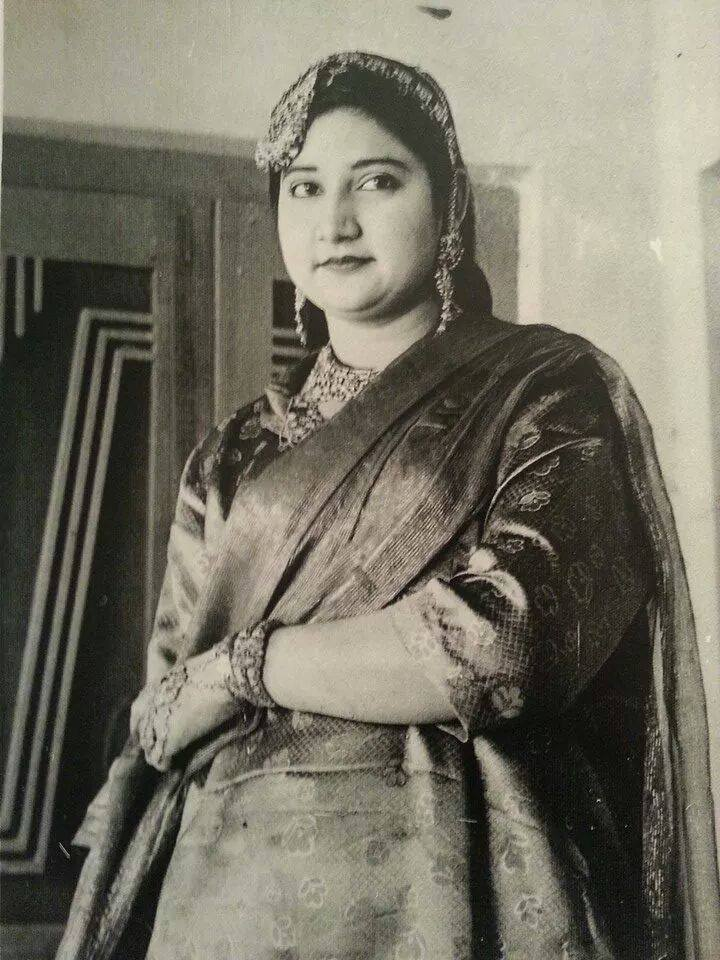 My mother's paternal aunt, one of many formidable figures who lorded over my maternal grandmother while her husband was away for months and years.