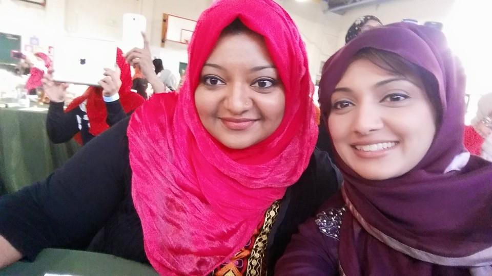 The Chaudry sisters. Both post-graduate working moms. Ami succeeded!